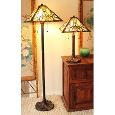 Serena d'italia Floral 2 Piece Table and Floor Lamp Set