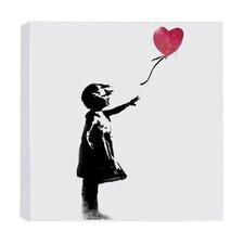 Leinwanddruck Mädchen mit Ballon von Banksy - 41 x 41 cm