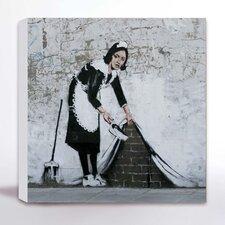 Leinwanddruck Camden Magd von Banksy - 41 x 41 cm