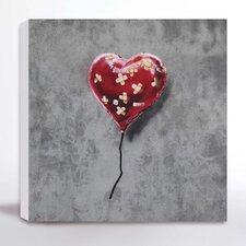 Leinwanddruck Herz Flickwerk von Banksy - 41 x 41 cm