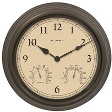"AcuRite 15"" Outdoor Clock Combo"