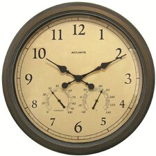 "AcuRite Oversized 24"" Outdoor Clock Combo"
