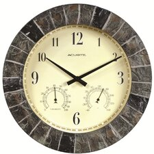 "AcuRite Oversized 14"" Outdoor Clock Combo"