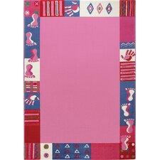 TeppichRoundly Hands & Feet in Pink