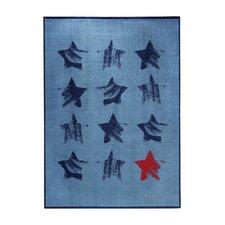 Teppich Cosmic Glamour in Blau/ Rot