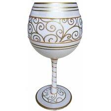 Anniversary Balloon Wine Glass