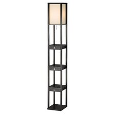 "Murray Three Drawer Shelf 72.5 "" Floor Lamp"