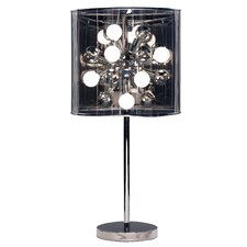 """Starburst 28.5"""" H Table Lamp with Drum Shade"""