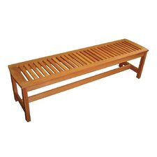 Serenity Backless Wood Garden Bench