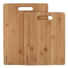 2 Piece Premium Bamboo Cutting Board Set