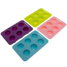 6 Cavity Round Silicone Mold Pan (Set of 4)