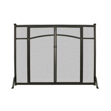 Flat Panel Fireplace Screen with Doors