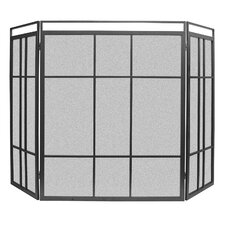 Modern Prairie Fireplace Screen
