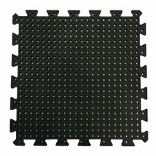 """Eco-Drain"" Interlocking Rubber Tile Mat (Set of 8)"