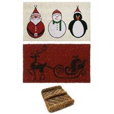 3 Piece Christmas Doormat Set (Set of 3)