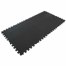 """""""Z-Cycle Tiles"""" Interlocking Protective Flooring Rubber Mat (Set of 8)"""
