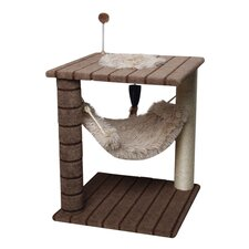 Carpet Cat Tree with Small Hammock