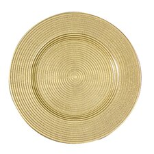 "13"" Rope/Metallic Charger Plate (Set of 4)"