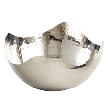 Stainless Steel Hammered Wave Serving Bowl