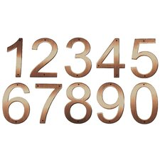 Pure Copper House Numbers