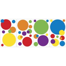 Primary Color Dots Wall Decal