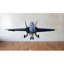 "US Navy ""Blue Angel"" F-18 Hornet Nose View Cutout Wall Decal"
