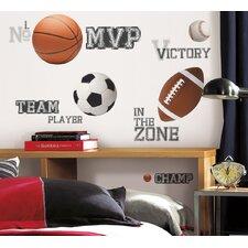 All Star Sports Cutout Wall Decal
