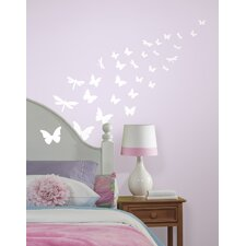 Glow-in-the-Dark Butterflies Dragonfly Wall Decal