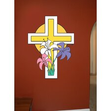 Easter Cross Cutout Wall Decal