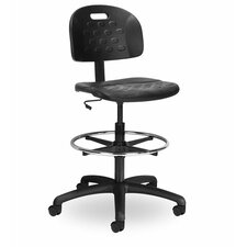 Indy Height Adjustable Drafting Chair with Chrome Foot Ring