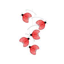 Ladybug Glitter Nylon Hanging Mobile