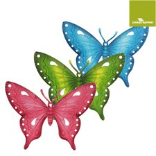 3-tlg. Wanddekoration-Set Butterfly