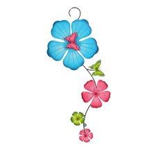 Wanddekoration Butterfly Flower