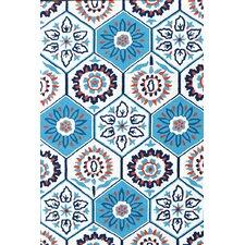 Handmade Tile White Indoor/Outdoor Area Rug