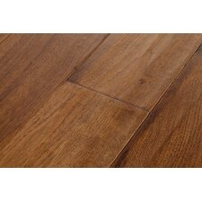 River's Edge Hickory 5 Inch Wide Plank Flooring in Canoe Brown