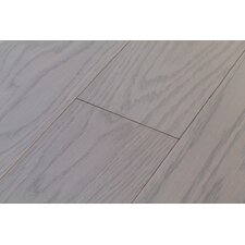 River's Edge White Oak 5 Inch Wide Plank Flooring in Washout Grey