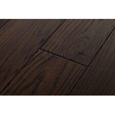 River's Edge White Oak 5 Inch Wide Plank Flooring in Cattail Dark Brown
