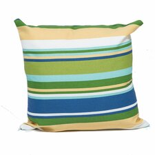 Blue Stripe Outdoor Throw Pillow Square 18x18 (Set of 2) (Set of 2)
