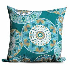 Teal Sundial Outdoor Throw Pillows Square 18x18 (Set of 2) (Set of 2)