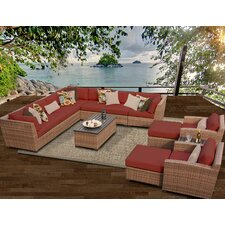 Laguna 13 Piece Deep Seating Group with Cushion