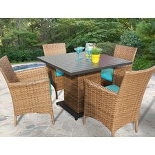 Laguna 5 Piece Dining Set with Cushions