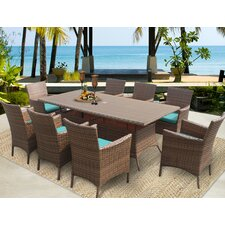 Laguna 9 Piece Dining Set with Cushions