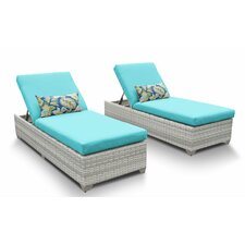 Fairmont Chaise Lounge with Cushion (Set of 2)