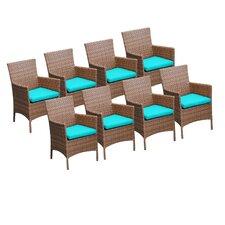 Laguna Dining Arm Chair with Cushion (Set of 8)