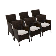Dining Arm Chair with Cushion (Set of 6)
