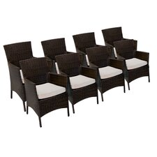 Dining Arm Chair with Cushion (Set of 8)