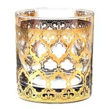 Valencia 11 Oz. Old Fashion Gold 22K Glass (Set of 4)