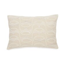 Terracotta Embroidered Mosaic Decorative Cotton Throw Pillow