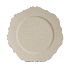 Fleur de Lis Scalloped Edge Charger Plate (Set of 6)