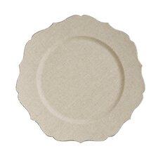 Fleur de Lis Scalloped Edge Charger Plate (Set of 6)